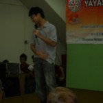 学生扶轮团主席受邀上台即席演讲