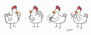 chicken dance 的可爱舞蹈动作