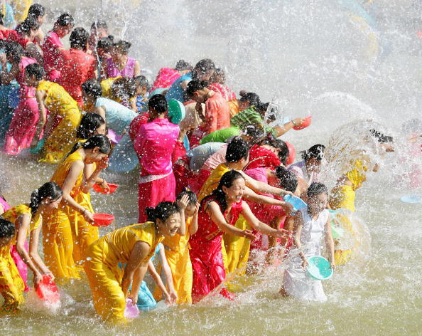 Dai Villagers Celebrate New Year With Water Splashing Festival